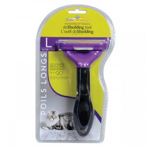 Long Hair deShedding Tool for Cats - L - 2.65""
