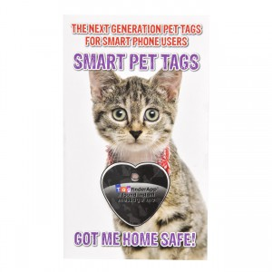 Smart Pet Tag - English - Black Heart