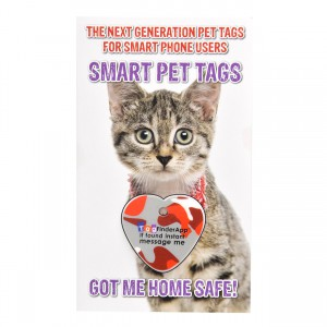 Smart Pet Tag - English - Red Camo Heart