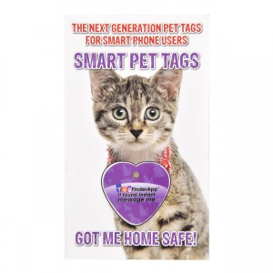 Smart Pet Tag - English - Purple Heart