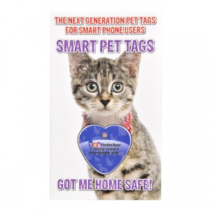 Smart Pet Tag - English - Blue Heart