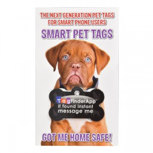 Smart Pet Tag - English - Black Bone