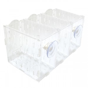 "Acclimation Tank - 3 Compartments - 12"" x 8"" x 7"""