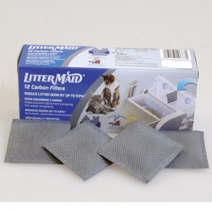 Litter Box Replacement Carbon Filters - 12 pk