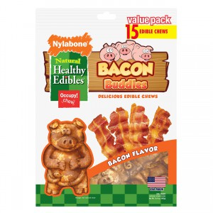 Healthy Edibles Bacon Buddies Bacon Flavor - 15 pk