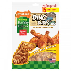 Healthy Edibles Dino Dudes Chicken Flavor - 15 pk