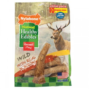 Healthy Edibles Edible Antler Real Venison - Medium - 10 pk