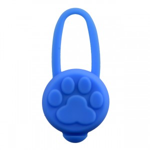 Silicone LED Dog Tag - Blue