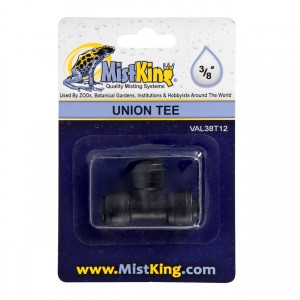 Union Tee Connector for Misting Systems - 3/8""