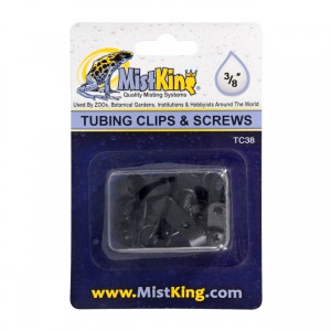 Tubing Clips and Screws for Misting Systems - 3/8""