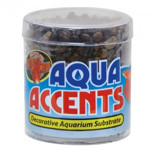 Aqua Accents Decorative Substrate - Dark River Pebbles - 0.5 lb