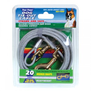 Tie-Out Cable for Dogs - Heavy Weight - 20 ft