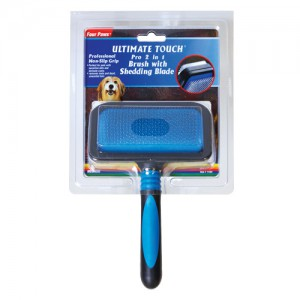 Ultimate Touch Pro 2 in 1 Brush with Shed 'N Blade - Medium