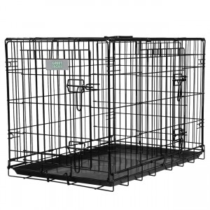 Deluxe Double Door Wire Crate - 30""