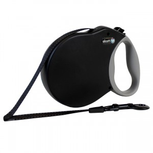 Adventure Retractable Leash - Black - Medium