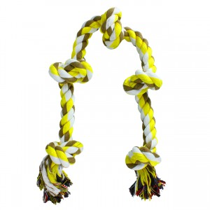 Coloured 5 Knot Rope Toy - X-Large - 36""