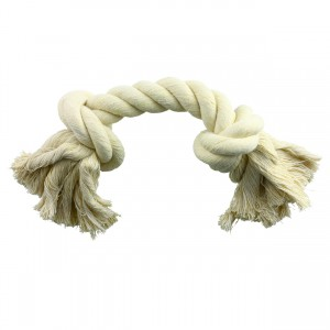 White 2 Knot Rope Toy - 14""