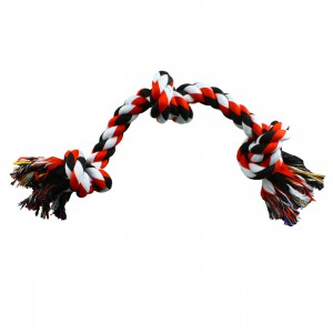 Coloured 3 Knot Rope Toy - 20""