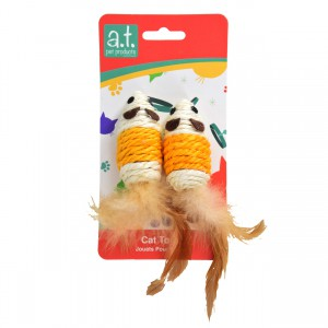 Sisal Rope Mouse - 2 pk