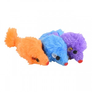 Furry Mouse Toy - 3 pk