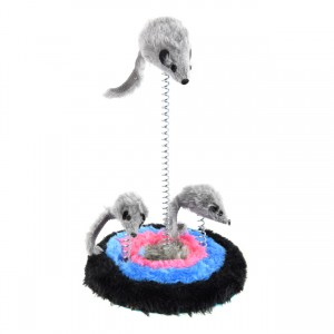 Furry Spring 3 Mice Cat Toy - 9""