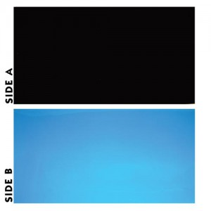 "Black/Blue Reversible Background - 20"" - Sold by the Foot"