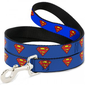 Superman Shield Blue Leash