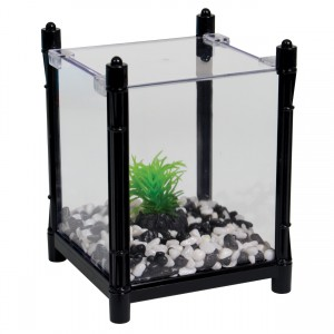 BettaBloc Stackable Betta Kit - Black - 1 L