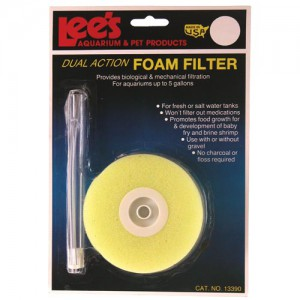 Dual Action Foam Filter - Round - Up to 5 gal
