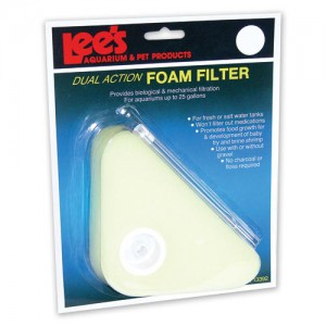 Dual Action Foam Filter - Triangle - Up to 25 gal
