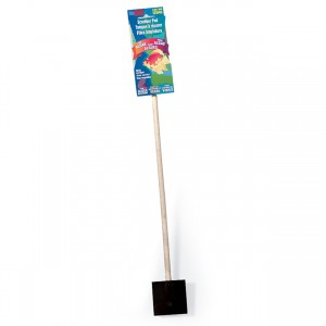 Glass Aquarium Algae Scrubber Pad on a Stick with Scraper - 15""
