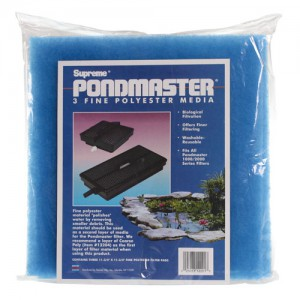 Blue Polyester Pads for 1000/2000 Submersible Filter Units - 3 pk
