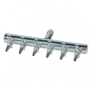 """Air Manifold T Style - 3/8"""" Inlet - 6 Valve Outlet"""