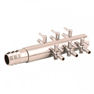 """Air Manifold Trumpet Style - 0.625"""" Inlet - 6 Valve Outlet"""