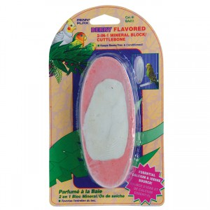2-in-1 Mineral Block / Cuttlebone - Berry Flavor