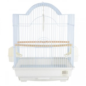 Small Bird Cage Kit - Arch-Style - White