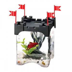 Betta Castle Aquarium Kit - Black