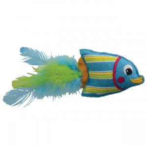 KONG Tropics Fish Toy - Blue