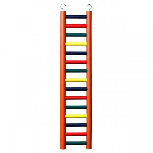 15-rung Wood Bird Ladder - Multi-color