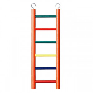 6-rung Wood Bird Ladder - Multi-color