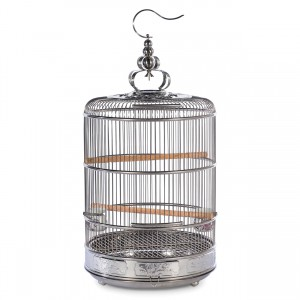 "Empress Bird Cage - Stainless Steel - 15.5"" dia x 21"""