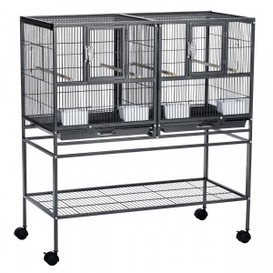 "Hampton Deluxe Divided Breeder with Stand - Black - 37.5"" x 18"" x 40.75"""