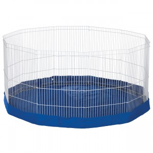 """Mat/Cover for the Ferret/Rabbit Pet Playpen with Extension - Blue - 61"""" dia"""