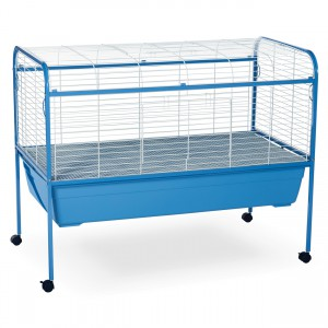 "Small Animal Cage with Stand - Blue - 47"" x 22"" x 37"""