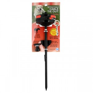 Retractable In-Ground Cable Tie Out - Large