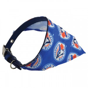 Protect Me Alert Series Blue Jay Bandana Collar - Small