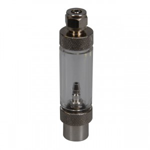 2-in-1 Metal Bubble Counter & Check Valve - Threaded