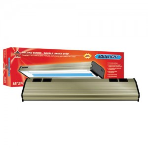 Aqualight Deluxe Double Strip 50/50 CF Fixture - 2 x 65 W - 24""