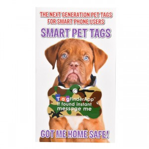 Smart Pet Tag - English - Green Camo Bone