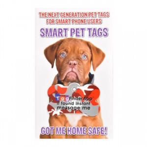 Smart Pet Tag - English - Red Camo Bone
